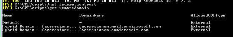 C: NCPPSceipts ederat ion trust  C: ipt s t —re no te do main  Do ma in N ane  eFauIt  faceresione .  ybrid Domain —  ybrid Domain  — 'facepesione.  faceresionem nail . on microsoft  'facepesionem.onnicrosoFt.com  com  Extern a I  External  Exte r n al